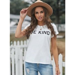 """New! Women's """" BE KIND"""" Graphic short sleeve Tee"""